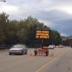 Drought 2015 - Kelowna water restrictions sign