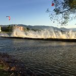 okanagan water management and conservation Flood 2017_1_Crazy waves overwhelm gabion barrier Flood 2017 - Crazy waves overwhelm gabion barrier
